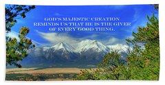 God's Majestic Creation Beach Towel