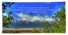 God's Majestic Creation Beach Sheet