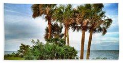 God's Nest Beach Towel by Carlos Avila
