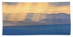 God's Rays Over The Great Basin  Beach Towel