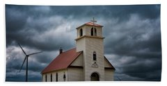 Beach Towel featuring the photograph God's Storm by Darren White