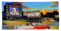 Goin' Steady - The Circle Drive-in Theatre Beach Towel