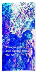 Going Through Deep Waters Beach Towel by Hazel Holland