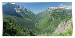 Going-to-the-sun Road Mountain Valley Beach Towel