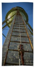 Beach Sheet featuring the photograph Going Up Mary Leila Cotton Mill Water Tower Art by Reid Callaway
