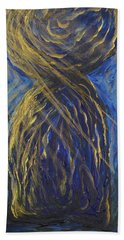 Gold And Blue Latte Stone Beach Towel