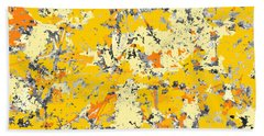 Gold And Orange Grunge Beach Sheet