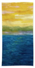 Gold And Pink Sunset  Beach Towel