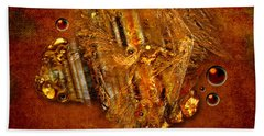 Gold Angel Beach Towel