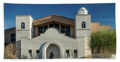 Gold Canyon Church Beach Towel by Greg Nyquist