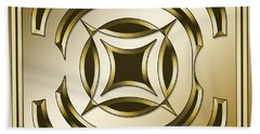 Gold Coffee 1 - Chuck Staley Beach Towel by Chuck Staley