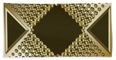 Gold Coffee 9 Beach Towel