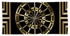 Gold Deco 8 - Chuck Staley Beach Towel by Chuck Staley