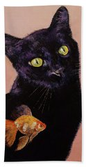 Gold Fish Beach Towel by Michael Creese