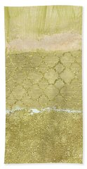 Gold Glam Pretty Abstract Beach Towel