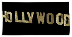 Gold Hollywood Sign Beach Towel