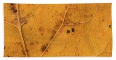 Gold Leaf Detail Beach Towel