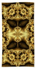 Gold N Brown Phone Case Beach Sheet