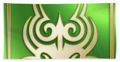 Gold On Green 2 - Chuck Staley Beach Towel by Chuck Staley
