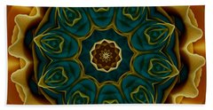 Gold Rose Mandala Beach Sheet