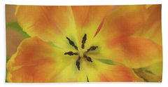Gold Tulip Explosion Beach Towel