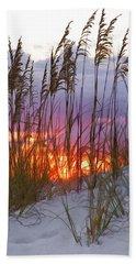 Golden Amber Beach Towel