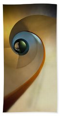 Golden And Brown Spiral Staircase Beach Sheet