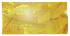 Golden Autumn Leaves Beach Towel