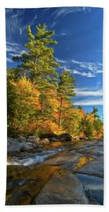 Golden Autumn Light Nh Beach Towel