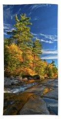 Golden Autumn Light Nh Beach Towel by Michael Hubley