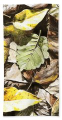 Beach Sheet featuring the painting Golden Autumn - Talkeetna Leaves by Karen Whitworth