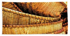Beach Towel featuring the photograph Golden Baskets by Donna Lee