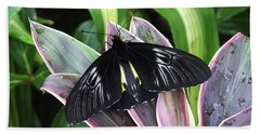Golden Birdwing Beach Towel