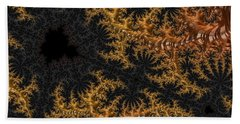 Golden Branching Moss Beach Towel