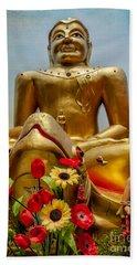 Flowers For Buddha  Beach Towel