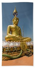 Golden Buddha Statue, Tiger Cave Temple Beach Towel