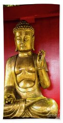 Golden Buddha With The Pearl Of Wisdom Beach Sheet