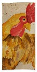 Golden Chicken Beach Towel by Maria Urso