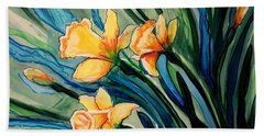 Golden Daffodils Beach Sheet