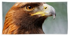 Beach Towel featuring the photograph Golden Eagle Intensity by Sue Harper