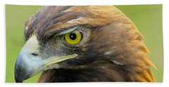 Beach Towel featuring the photograph Golden Eagle by Shane Bechler