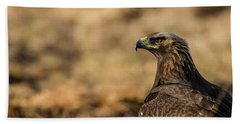 Beach Towel featuring the photograph Golden Eagle by Torbjorn Swenelius