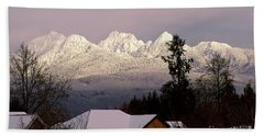 Beach Towel featuring the photograph Golden Ears Mountain View by Sharon Talson