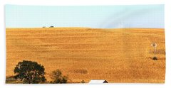 Beach Towel featuring the photograph Golden Field  by Yumi Johnson