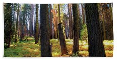 Golden Forest Bed Beach Towel