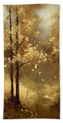 Golden Forest Beach Towel
