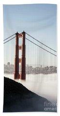 Beach Towel featuring the photograph Golden Gate And Marin Highlands by David Bearden