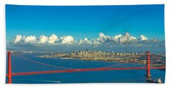 Golden Gate And The City Beach Towel