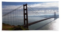Beach Towel featuring the photograph Golden Gate Bridge-2 by Steven Spak