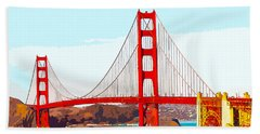 Golden Gate Bridge San Francisco The City By The Bay Beach Towel